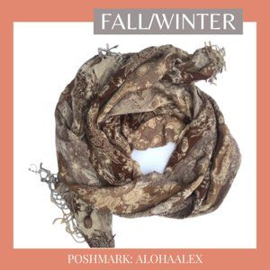 Accessories - BOHEMIAN BROWN SCARF FOR FALL/WINTER